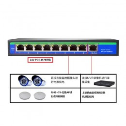 9路【24V POE供電交換機】9PORT POE Switch 可加購POE分離器