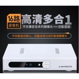 超划算!16路2音4混【AHD+DVR+NVR+HVR】1080P雲端監視主機【單碟6TB】APP手機監控H264連線