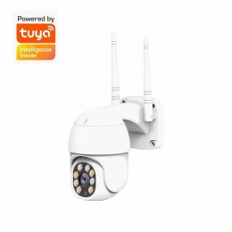 Tuya智能生活 360度戶外無線攝影機P08【1080P多機同框+雙智能全彩對話】手機APP遠端WIFI監視器